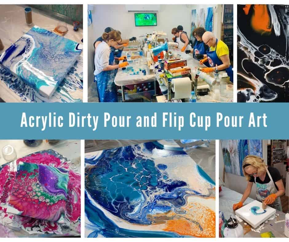 Acrylic Dirty Pour & Flip Cup