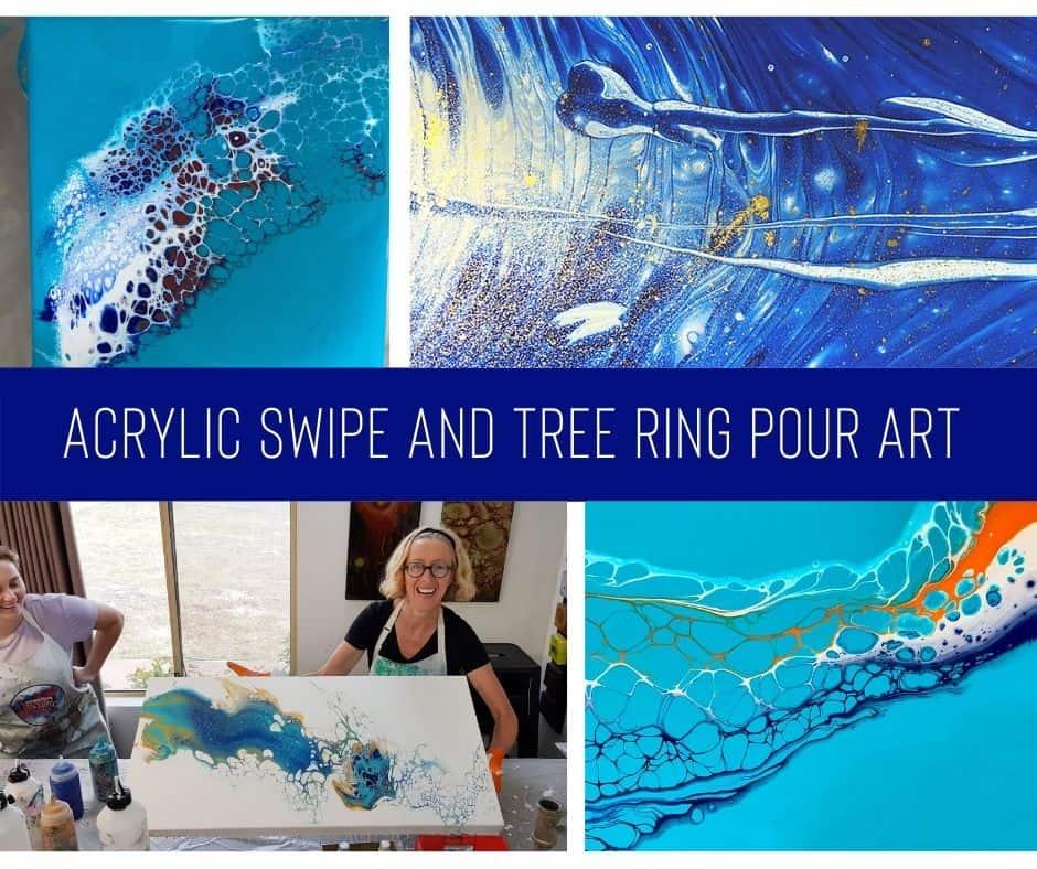 Acrylic Swipe & Ring Pour